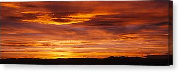 Sky At Sunset, Daniels Park, Denver Canvas Print