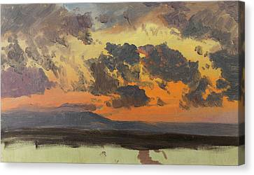 Sky At Sunset. Jamaica. West Indies Canvas Print by Frederic Edwin Church