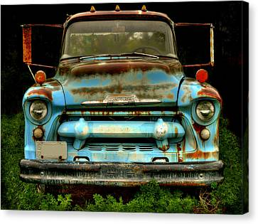 Sky Blue And Still Cool Canvas Print by Thomas Young