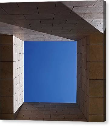 Sky Box At The Getty 2 Canvas Print by Rona Black