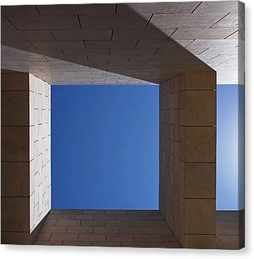 Designer Colour Canvas Print - Sky Box At The Getty  by Rona Black