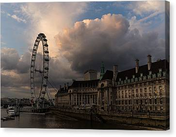 Sky Drama Around The London Eye Canvas Print
