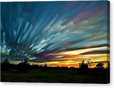 Sky Feathers Canvas Print