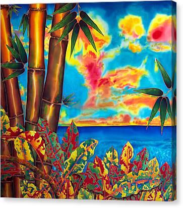 Sky Fire Canvas Print by Daniel Jean-Baptiste