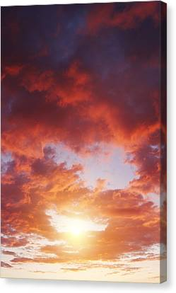 Sky Fire Canvas Print by Les Cunliffe