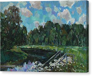 Sky In The River Canvas Print by Juliya Zhukova