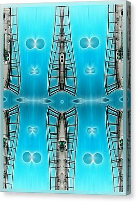 Sky Ladders Canvas Print by Wendy J St Christopher