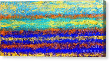 Sky Lights - Original Metallic Gold Bronze Art  Painting Canvas Print by Emma Lambert