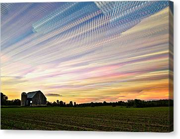 Sky Matrix Canvas Print by Matt Molloy