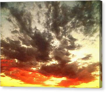 Sky Moods - Stoking The Coals Canvas Print by Glenn McCarthy