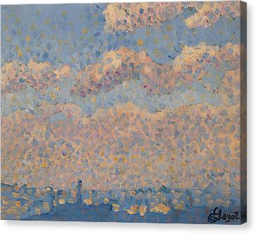 Sky Over The City Canvas Print by Louis Hayet