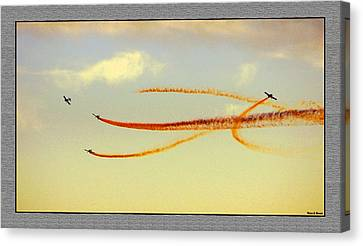 Canvas Print featuring the photograph Sky Painters by Thomas Bomstad