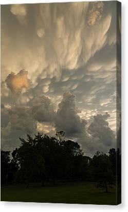 Turbulent Skies Canvas Print - Sky Painting - Mammatus Clouds After A Storm by Georgia Mizuleva