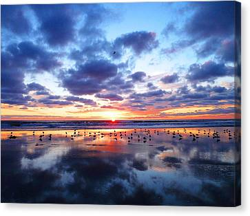 Sky Reflections Canvas Print by Julia Ivanovna Willhite