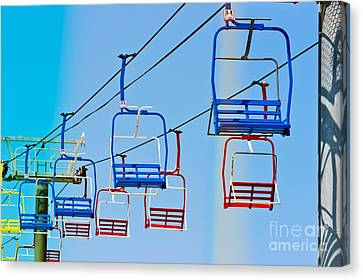 Casino Pier Canvas Print - Sky Ride #34 by Colleen Kammerer