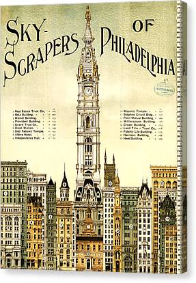 Sky Scrapers Of Philadelphia 1896 Canvas Print by Bill Cannon