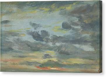 Sky Study, Sunset, 1821-22 Canvas Print