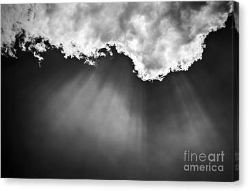 Sky With Sunrays Canvas Print by Elena Elisseeva