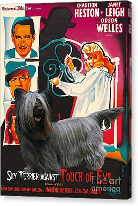 Skye Terrier Art Canvas Print - Touch Of Evil Movie Poster Canvas Print by Sandra Sij