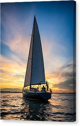 Yacht Canvas Print - Skyelark Of London by Alexis Birkill