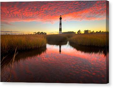 Canvas Print featuring the photograph Skyfire by Bernard Chen