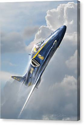 Skyhawk 2 Canvas Print by Peter Chilelli