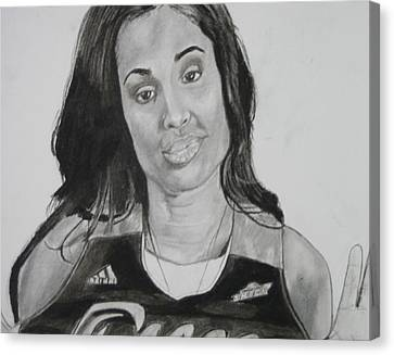 Skylar Diggins Canvas Print by Aaron Balderas