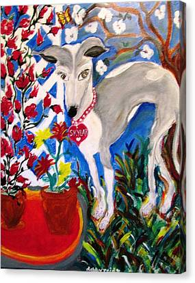 Skylar Miniature Greyhound Canvas Print