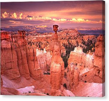 Skylight Over Bryce Canvas Print by Ray Mathis