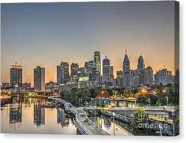 Skyline At Dawn Canvas Print by Mark Ayzenberg