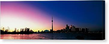Skyline Cn Tower Skydome Toronto Canvas Print by Panoramic Images