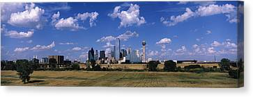Skyline Dallas Tx Usa Canvas Print by Panoramic Images