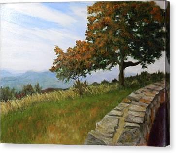 Canvas Print featuring the painting Skyline Drive Virginia by Sandra Nardone