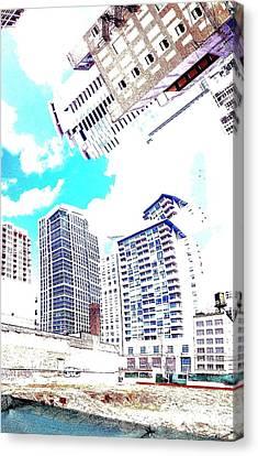 Skyline Flowing Canvas Print by Scott Dixon