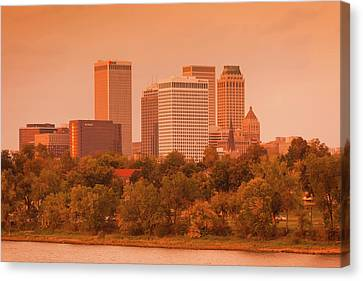 Arkansas River Canvas Print - Skyline From The Arkansas River by Panoramic Images