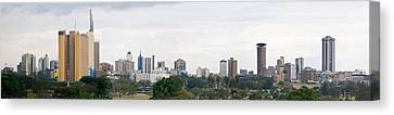 Skyline In A City, Nairobi, Kenya 2011 Canvas Print by Panoramic Images
