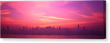 Mysterious Sunset Canvas Print - Skyline, Nyc, New York City, New York by Panoramic Images