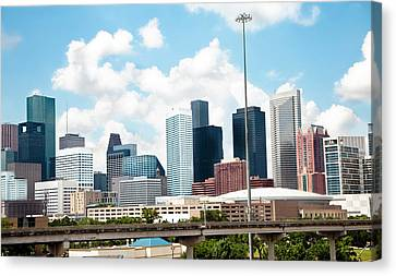 Skyline Of Downtown Houston Texas Canvas Print by Fstop123