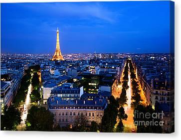 Skyline Of Paris Canvas Print