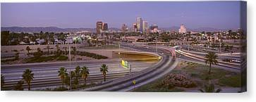 Skyline Phoenix Az Usa Canvas Print by Panoramic Images