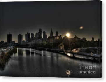 Skyline Sunrise Canvas Print by Mark Ayzenberg