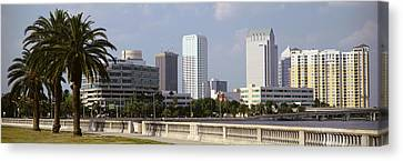 Skyline Tampa Fl Usa Canvas Print by Panoramic Images