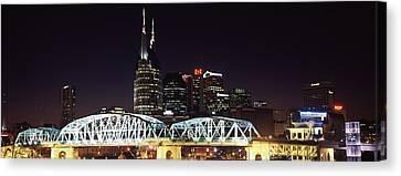 Skylines And Shelby Street Bridge Canvas Print