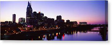 Skylines At Dusk Along Cumberland Canvas Print by Panoramic Images