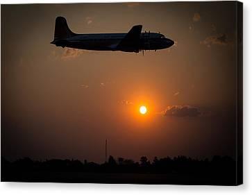 Skymaster Sunset Canvas Print by Paul Job