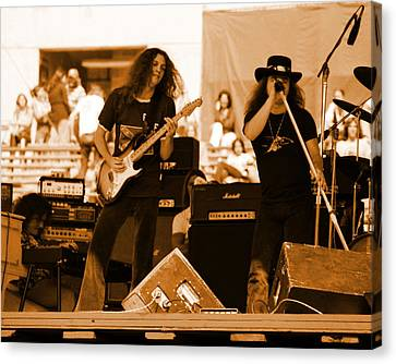 Skynyrd #12 In Amber Canvas Print by Ben Upham