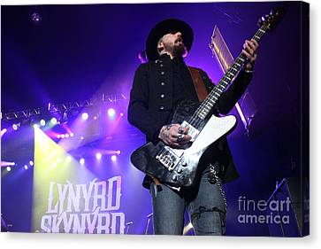 Skynyrd-johnnycult-7915 Canvas Print by Gary Gingrich Galleries
