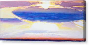 Sun Rays Canvas Print - Skyscape by Lou Gibbs