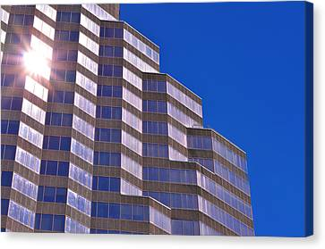 Skyscraper Photography - Downtown - By Sharon Cummings Canvas Print by Sharon Cummings