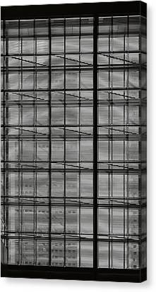 Skyscraper Through A Window Canvas Print